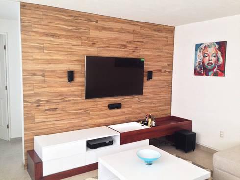 Depa RJC: Salas de estilo moderno por Estudio Chipotle