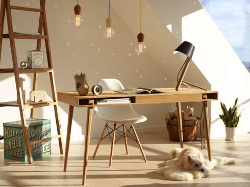 Great Designer Tisch POET DESK Im Skandinavischem Design: Skandinavische  Arbeitszimmer Von HolzDesignPur