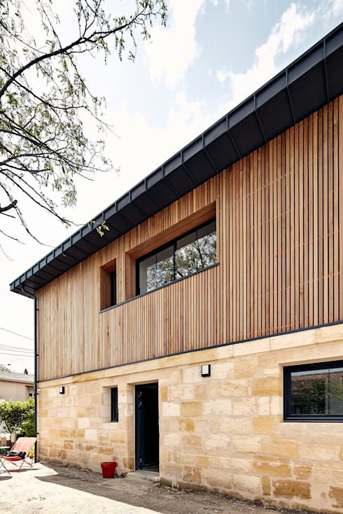 moderne Huizen door Cendrine Deville Jacquot, Architecte DPLG, A²B2D
