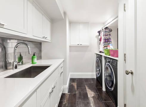 Laundry Room:  Corridor & hallway by Clean Design
