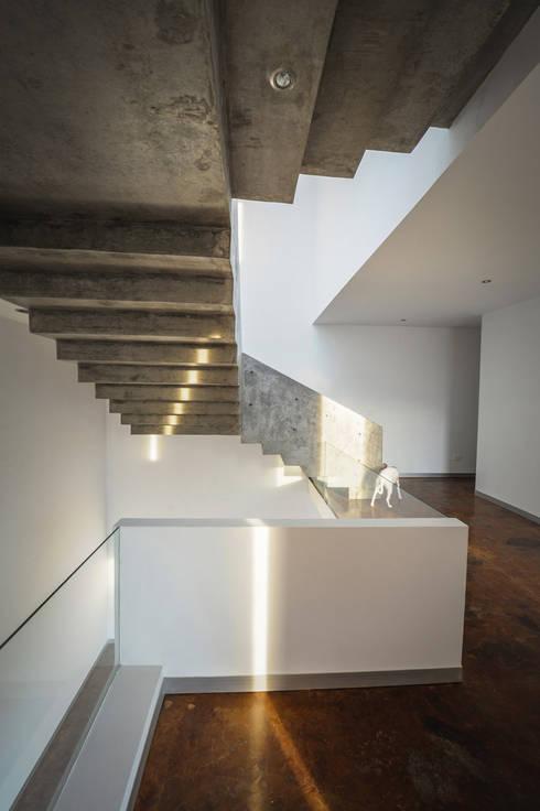 Casas CS - P+0 Arquitectura: Pasillos y recibidores de estilo  por pmasceroarquitectura