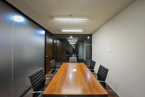 Oficinas CS - P+0 Arquitectura: Estudios y oficinas de estilo moderno por pmasceroarquitectura