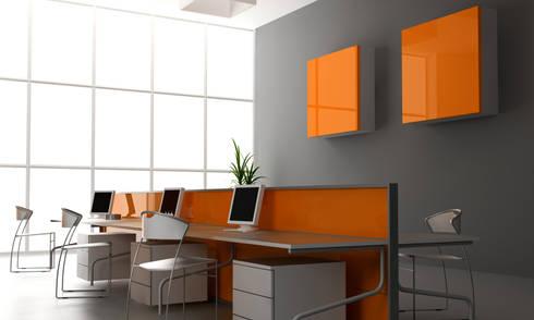 Zenolite es perfecto para aplicaciones comerciales, oficinas y el hogar.: Oficinas de estilo moderno por FORMICA Venezuela
