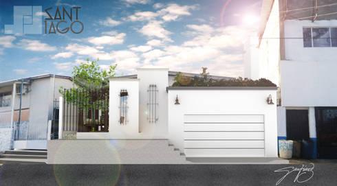 Fachada Principal Frente: Casas de estilo minimalista por SANT1AGO arquitectura y diseño