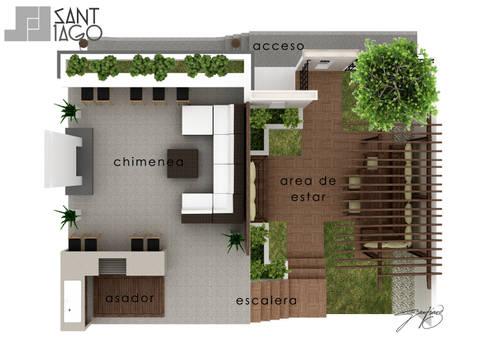 Planta Arquitectonica:  de estilo  por SANT1AGO arquitectura y diseño
