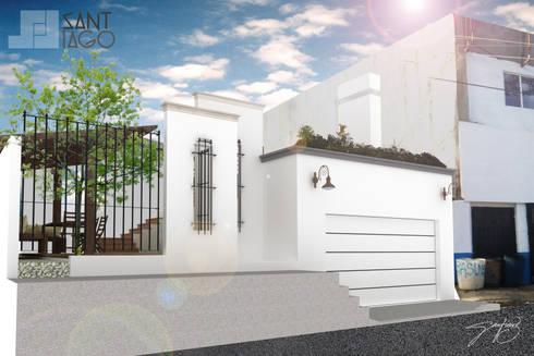 Fachada Principal : Casas de estilo minimalista por SANT1AGO arquitectura y diseño
