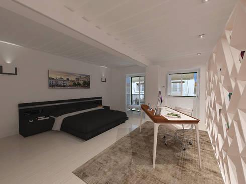 Remodelação Apartamento Principe Real: Quartos modernos por Projectos Arquitectura & 3D
