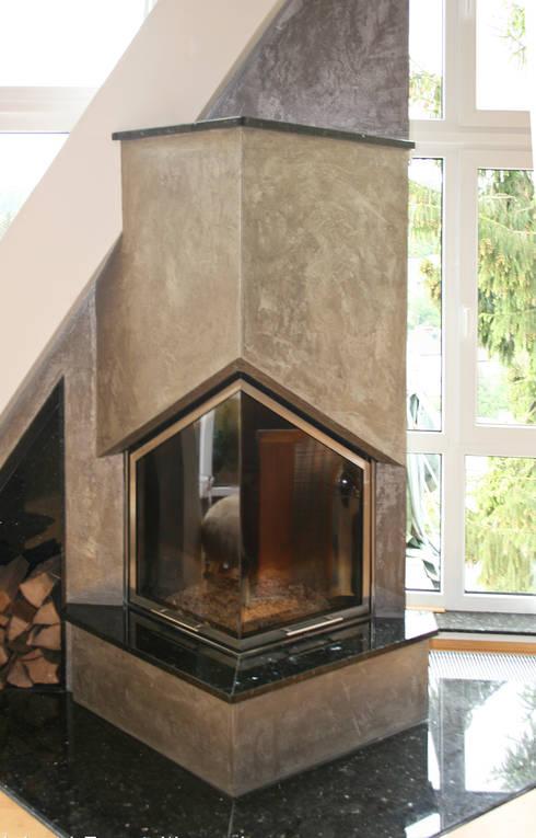 moderne kamine mit edler verkleidung von volimea gmbh. Black Bedroom Furniture Sets. Home Design Ideas