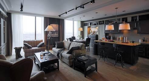 Номинация традиции: интерьер квартиры до 150 м: classic Living room by Archiprofi