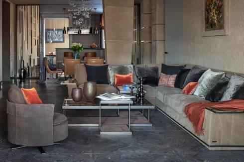 Специальная номинация от Royal Thermo: modern Living room by Archiprofi