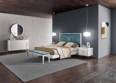 Mobiliário de quarto Bedroom furniture www.intense-mobiliario.com  ETRANA PMT: Quarto  por Intense mobiliário e interiores;