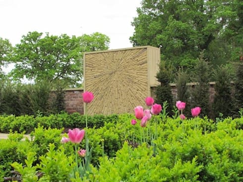 Dry Stone Wall Frieze In Formal Garden Modern By Dawn Design