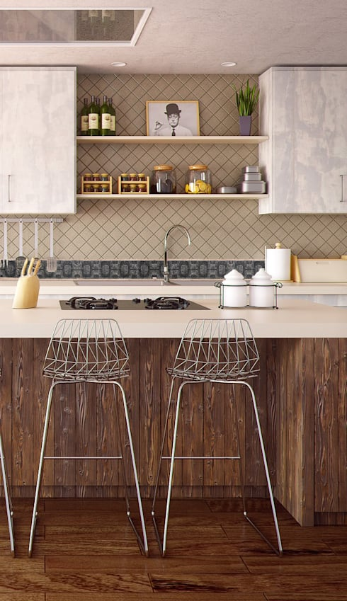 modern Kitchen by Elalux Tile