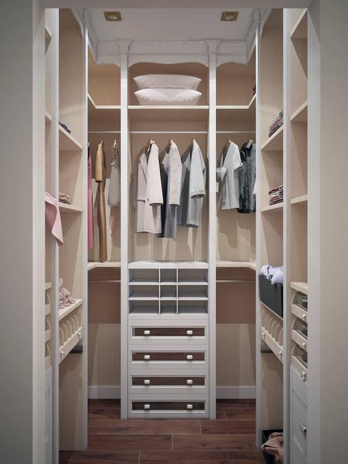 Closets de estilo  por Студия дизайна интерьера Маши Марченко