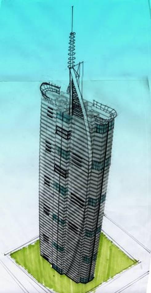 TORRE VISION ALTITTUDE: Estudios y oficinas de estilo moderno por DISEÑO APLICADO AVANZADO DE GUADALAJARA