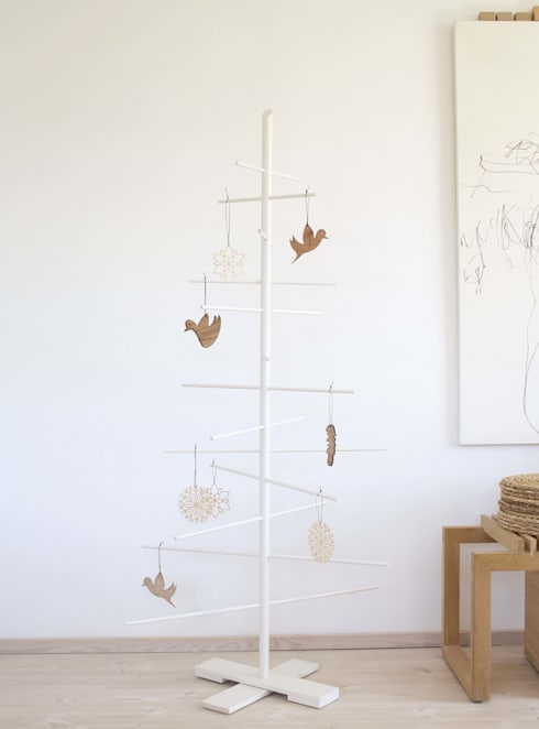 Weihnachtsbaum FILIGRANTRAE In Weiß: Skandinavische Wohnzimmer Von  HolzDesignPur