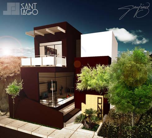 Casa-Habitacion: Casas de estilo minimalista por SANT1AGO arquitectura y diseño