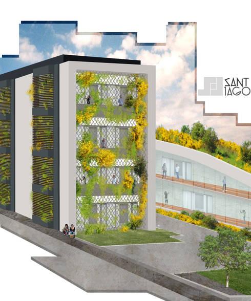 Edificio Publico: Estudios y oficinas de estilo minimalista por SANT1AGO arquitectura y diseño