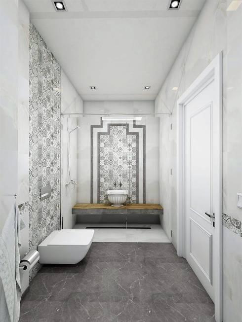 Projekty,  Łazienka zaprojektowane przez Murat Aksel Architecture