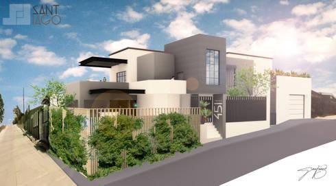 Residencia A/T: Casas de estilo minimalista por SANT1AGO arquitectura y diseño