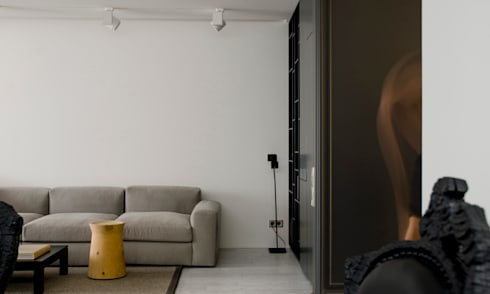 MONOCHROME: minimalistic Living room by LINE architects