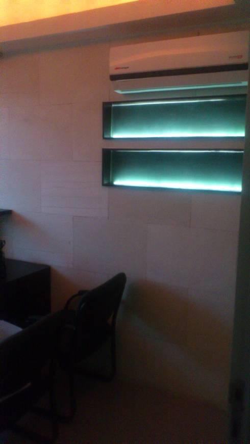 ILUMINACION: Estudios y oficinas de estilo moderno por DISEÑO APLICADO AVANZADO DE GUADALAJARA 2