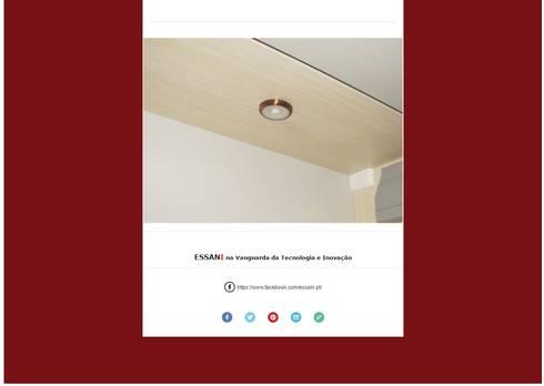 FOCO LED COIMBRA: Vestiário  por ESSANI-Inovação Tecnológica