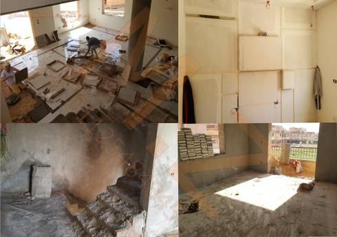 تشطيب فيلا K مدينتي -القاهرة :   تنفيذ شركة زمزم للتصميم و التفيذ المعماري