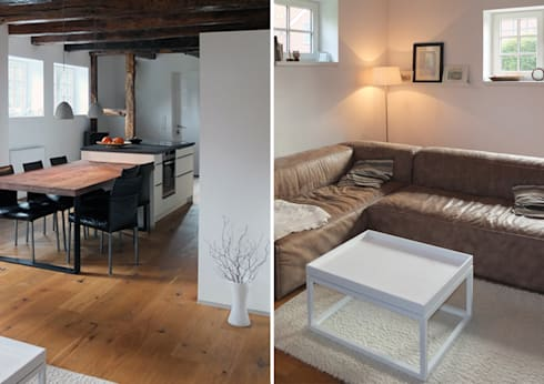 wohnkontraste in altem gebälk by qbus architektur, Innenarchitektur ideen