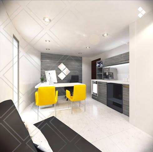Oficina: Dirección General: Estudios y oficinas de estilo minimalista por CDR CONSTRUCTORA