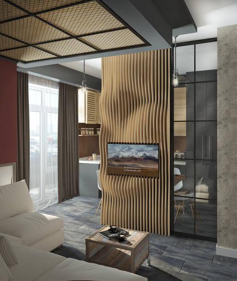 Гостиная: Гостиная в . Автор – Yurov Interiors