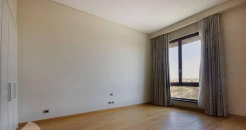 تشطيب شقة 6 اكتوبر:  غرفة نوم تنفيذ YAS interior designs