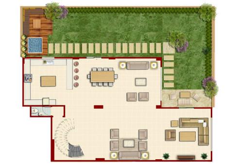 تصميم فيلا في مدينة الشيخ زايد:   تنفيذ Ain Designs Studio