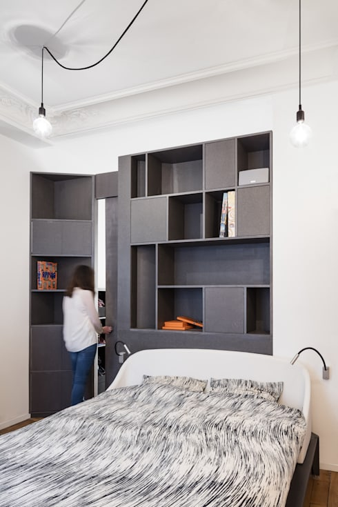 Bedroom by STUDIO RAZAVI ARCHITECTURE