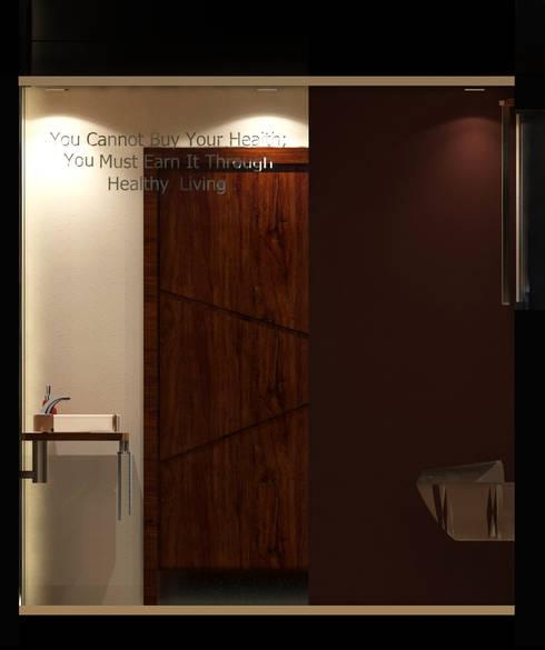 تصميم و تنفيذ مركز تشخيصي في المهندسين:  حمام تنفيذ Ain Designs Studio