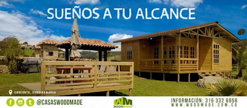 Casas de madera:  de estilo  por WoodMade