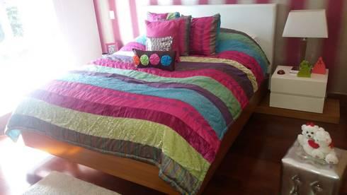 Dormitorio Individual, Lomas de la Alameda.: Cuartos de estilo moderno por THE muebles