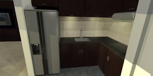 apartment 039: Cocinas de estilo minimalista por origini