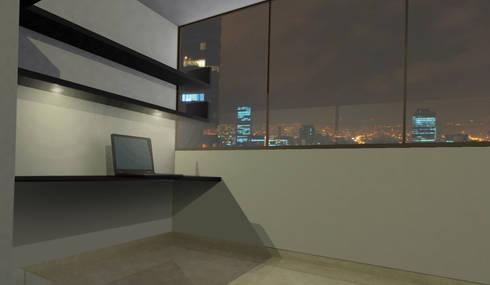 apartment 039: Estudios y despachos de estilo minimalista por origini
