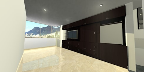 apartment 039: Habitaciones de estilo minimalista por origini