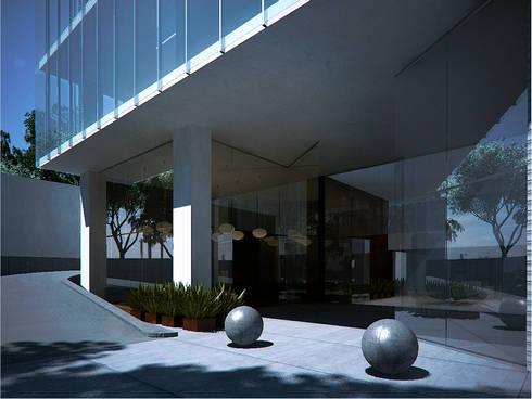 Muebles para recepcion: Balcones y terrazas de estilo moderno por ByHand