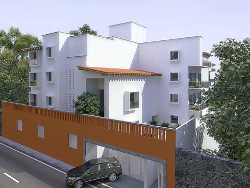 Departamentos Benito Juarez: Casas de estilo rural por ByHand