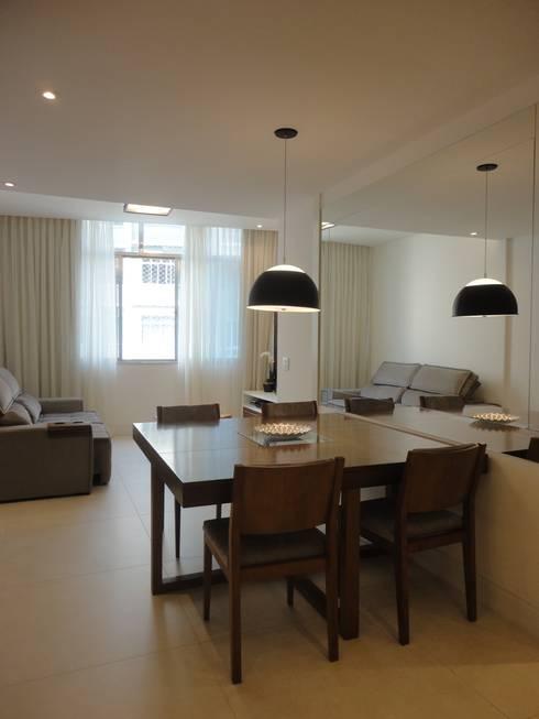 sala de jantar: Salas de jantar modernas por Maria Helena Torres Arquitetura e Design