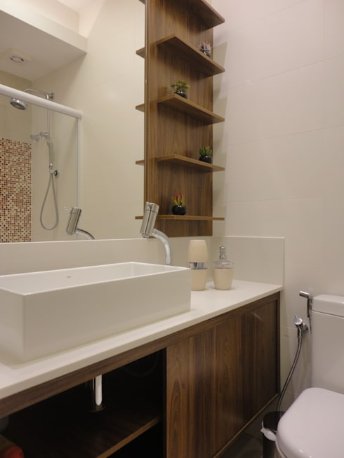 Bathroom by Maria Helena Torres Arquitetura e Design