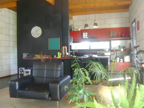 Salas / recibidores de estilo minimalista por Marcelo Manzán Arquitecto