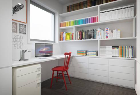 Apartamento Egas Moniz: Escritórios e Espaços de trabalho  por ASVS Arquitectos Associados