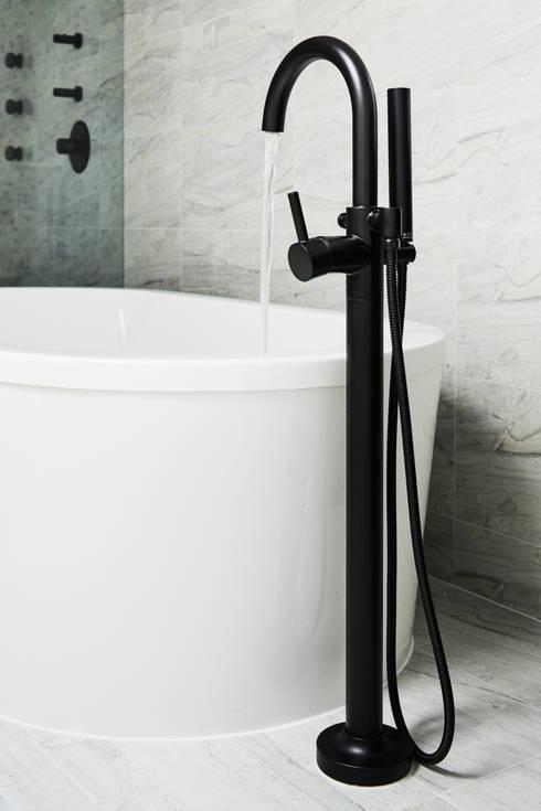 Carroll Street: modern Bathroom by M Monroe Design