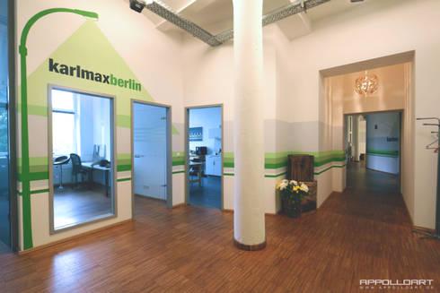 Wandgestaltung Büro app firma raumdesign im berliner büro loft wandgestaltung