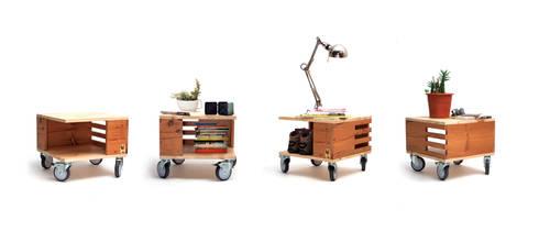 Bedside Table - Mercado Collection: Quarto  por Varas Verdes