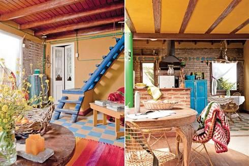 Casa Camet Norte: Salas de estilo rústico por Susana Bellotti Arquitectos